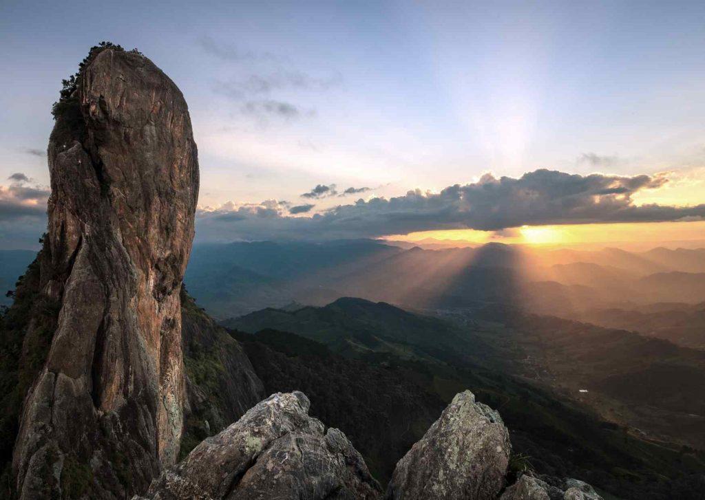 Berg en zon